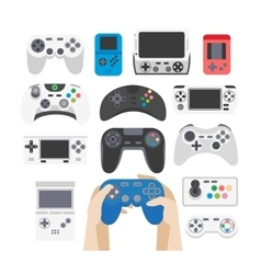 Video game icons set Collection of gaming devices vector image vector image