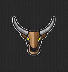 cow logo design template cow head icon vector image
