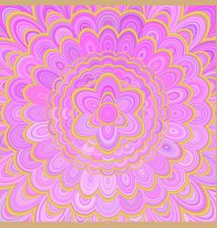 pink abstract flower mandala background - digital vector image