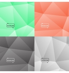 Set abstract pictures dark and bright colors vector image vector image