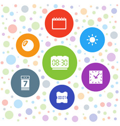 7 time icons vector