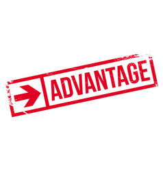 Advantage rubber stamp vector