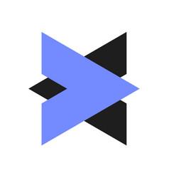 arrows logo vector image