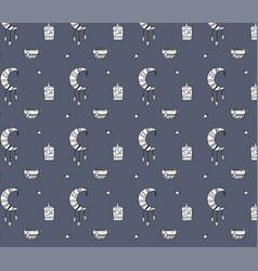 autumn cozy pattern vector image