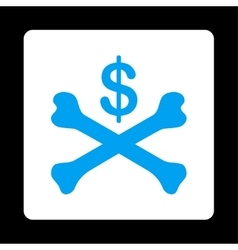 Bankruptcy Icon from Commerce Buttons OverColor vector