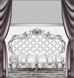baroque luxury sofa rich imperial style furniture vector image