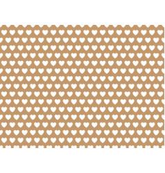 beige heart shape pattern vector image