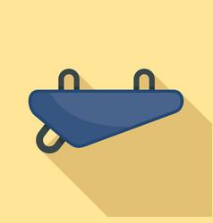 Bike textile bag icon flat style vector