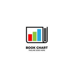 Book chart logo design template vector