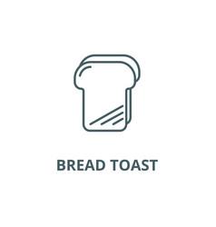 bread toast line icon bread toast outline vector image