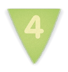 Bunting flag number 4 vector