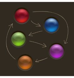 Business Diagram Management Strategy Buttons on vector