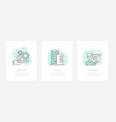 business management - line design style icons set vector image