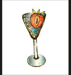 Cocktail drawn for relaxing in a restaurant vector