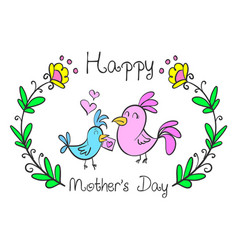 collection mother day style design vector image