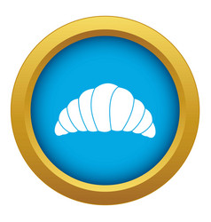 Croissant icon blue isolated vector