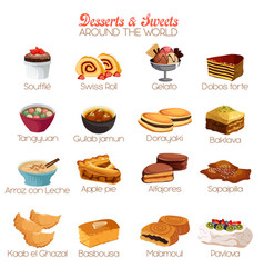 Dessert and sweets icons vector