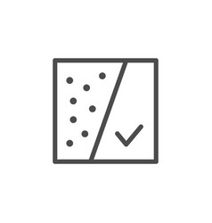 Dirty and clean skin line outline icon vector