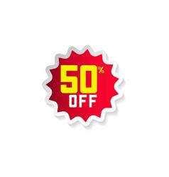 Discount 50 off template design vector