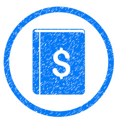 Dollar book rounded grainy icon vector