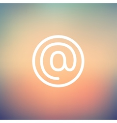 e-mail internet thin line icon vector image