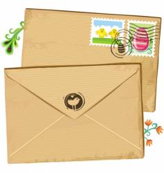 easter envelope and stamps vector image