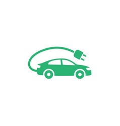 electric car icon on white background vector image