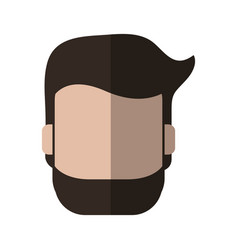 Faceless man with beard icon image vector