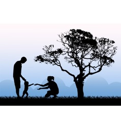 family walk and happiness parenthood vector image