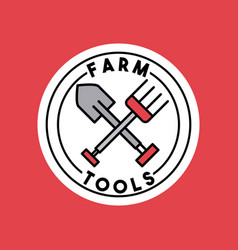 Farm tools flat vector