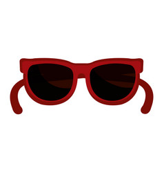 Fashion sunglasses isolated icon vector