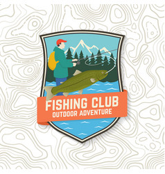 Fishing club patch concept for shirt or vector