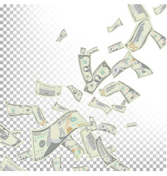 Flying dollar banknotes cartoon money vector