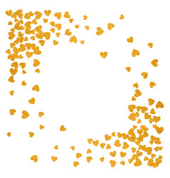 frame or border random scatter hearts vector image