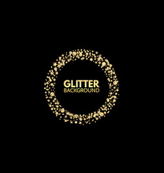 glitter circle festive golden sparkle background vector image