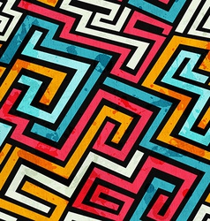 graffiti lines seamless pattern vector image