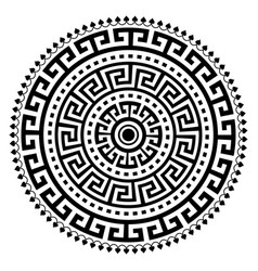 Greek ancient vase mandala design vector