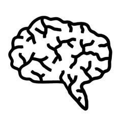 Grunge brain icon with grunge design unclean vector