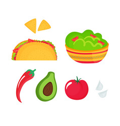 guacamole - a dish national mexican cuisine vector image