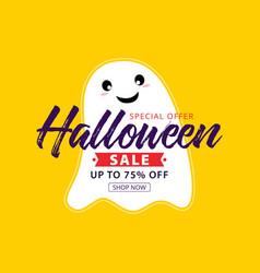 halloween sale banner special offer vector image