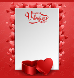happy valentines day background with blank vector image