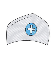 hat nurse accessory uniform medical vector image