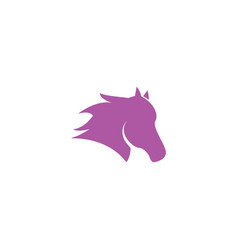 horse head logo icon template vector image