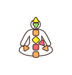 Human design chart rgb color icon vector
