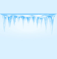 Icicles cluster background vector