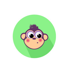 Icon monkey on the isolated white background vector