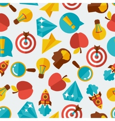 Idea concept seamless pattern in flat design style vector image vector image