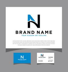 Initial an logo design for various business vector