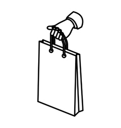 Isolated shopping bag design vector