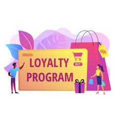Loyalty program concept vector